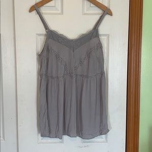 Torrid gray tank top size 00 equivalent to size 10